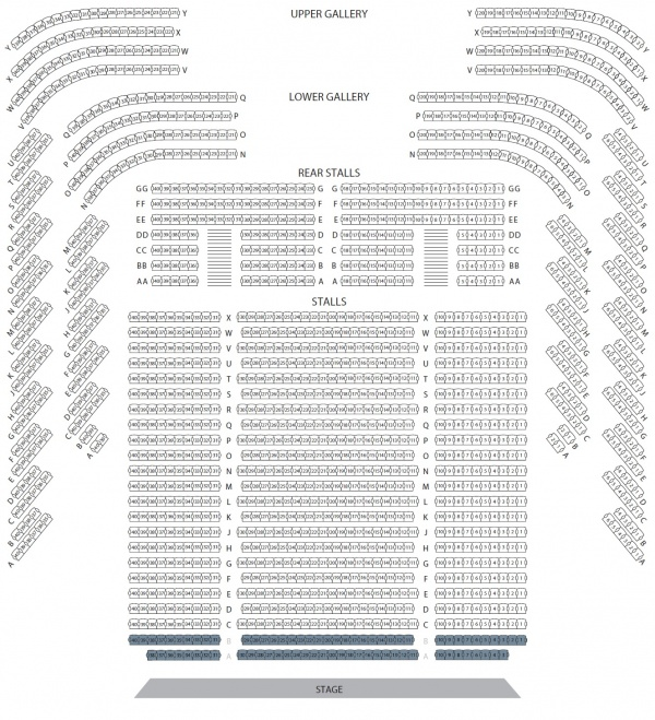 Seating Plan Perth Concert Hall